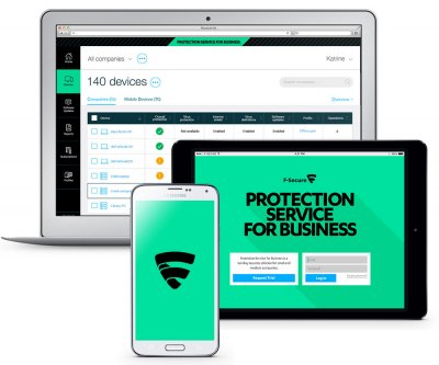 F-Secure Protection Service for Business, Workstation, Mobile & Server Security